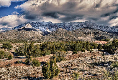 Sandia Mountain Landscape Art Print by Alan Toepfer
