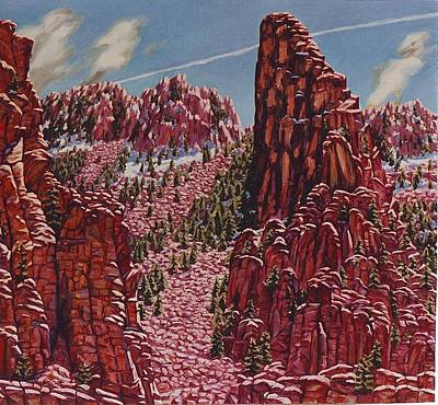 Painting - Sandia Mountains,albuquerque, New Mexico by Allen Kerns