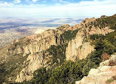 Photograph - Sandia Mountains by Anne Sands