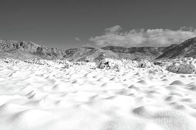 Photograph - Sandia Mountains Classic Desert Snow Landscape by Andrea Hazel Ihlefeld