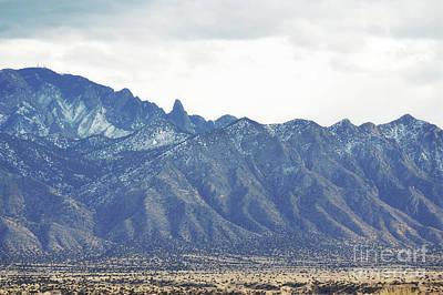 Photograph - Sandia Mountains Desert Landscape by Andrea Hazel Ihlefeld