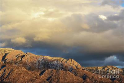 Photograph - Sandia Mountains Desert Sunset Landscape by Andrea Hazel Ihlefeld