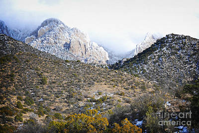 Photograph - Sandia Mountains Foothills Winter Landscape by Andrea Hazel Ihlefeld