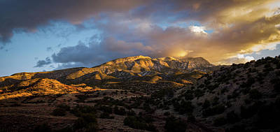 Photograph - Sandia Mountains In The Golden Hour by Howard Holley