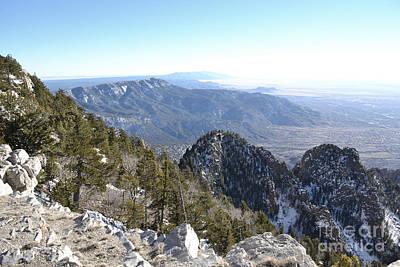 Photograph - Sandia Mountains Peak Landscape by Andrea Hazel Ihlefeld