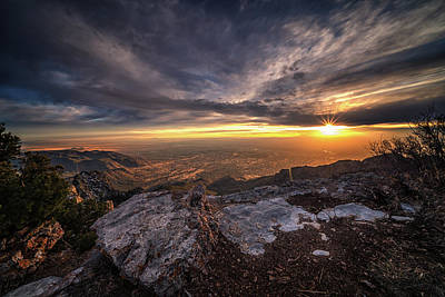 Photograph - Sandia Peak Sunset by Framing Places