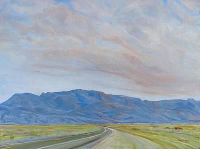 Sandia Sunset Art Print by Jo Anne Neely Gomez