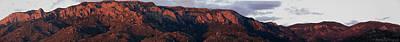 Sandia Sunset Panormaic Art Print