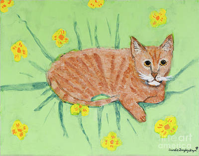 Sandie's Cat Art Print