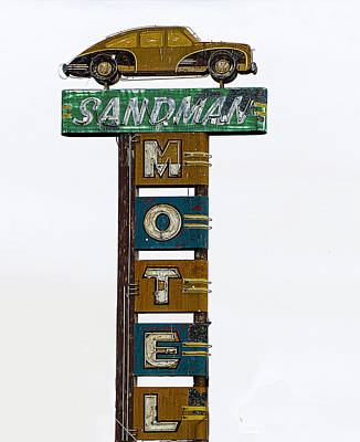 Photograph - Sandman Motel by Rick Mosher