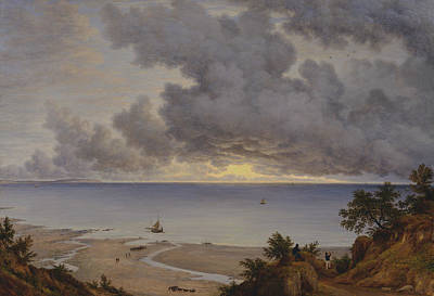 Painting - Sandown Bay, From Near Shanklin Chine, Isle Of Wight by John Glover