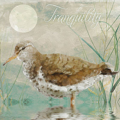 Moonlight Painting - Sandpiper II by Mindy Sommers