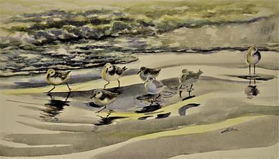 Painting - Sandpiper Morning by Julianne Felton