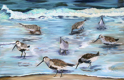 Sandpiper Party Original by Sue Appleton Dayton