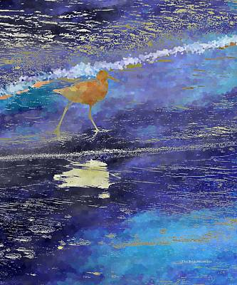 Digital Art - Sandpiper by Wally Boggus