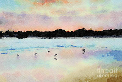 Digital Art - Sandpipers by Betty LaRue