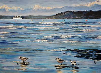 Wa Painting - Sandpipers by Shannon Lee
