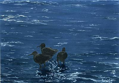 Painting - Sandpipers Twilight by Charles Parks