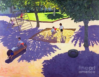 Sandpit Art Print by Andrew Macara