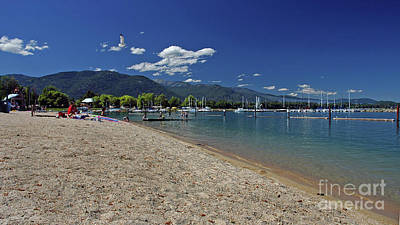 Photograph - Sandpoint City Beach by Cindy Murphy - NightVisions