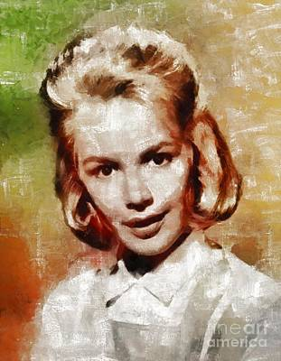 Dee Painting - Sandra Dee, Vintage Actress By Mary Bassett by Mary Bassett