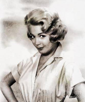 Dee Painting - Sandra Dee, Vintage Actress by John Springfield