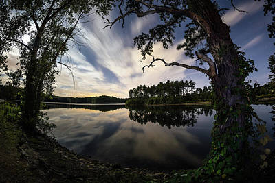Photograph - Sandra Pond At Night by Brian Hale
