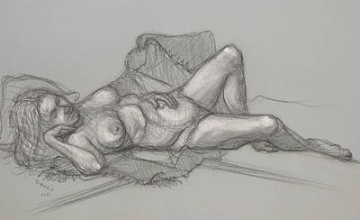 Drawing - Sandra Sleepimg by Donelli  DiMaria