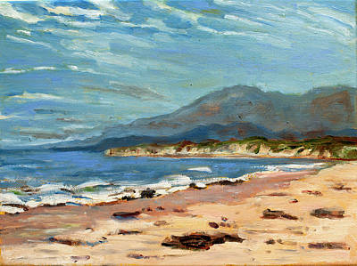 Painting - sands beach Goleta by Ann Heideman