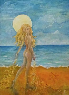 Mixed Media - Sands Of Time by Bernadette Wulf