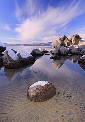 Photograph - Sands Of Winter Sundown by Sean Sarsfield