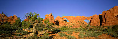 Arch Rock Photograph - Sandstone Arches, Arches National Park by Panoramic Images