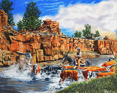 Painting - Sandstone Crossing by Ruanna Sion Shadd a'Dann'l