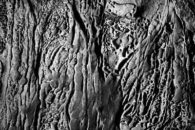 Photograph - Sandstone Erosion I Bw by David Gordon