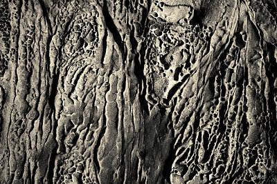 Photograph - Sandstone Erosion I Toned by David Gordon