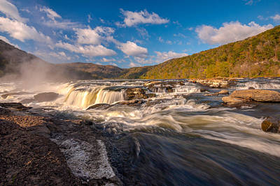Photograph - Sandstone Falls New River Gorge by Rick Dunnuck
