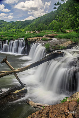 Photograph - Sandstone Falls by Ronald Santini