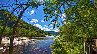 Ledge Photograph - Sandstone Falls West Virginia 4 - Paint by Steve Harrington