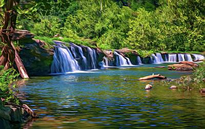 Sandstone Falls West Virginia 5 - Paint Print by Steve Harrington
