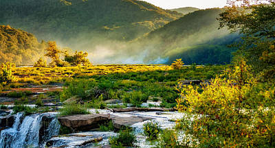 Autumn Photograph - Sandstone Falls West Virginia - Paint by Steve Harrington