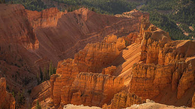Photograph - Sandstone Glow Cedar Breaks National Park Utah by Lawrence S Richardson Jr