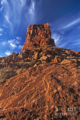 Photograph - Sandstone Monolith Valley Of The Gods Utah by Dave Welling
