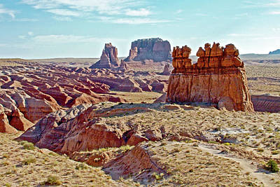 Photograph - Sandstone Monoliths In Carmel Canyon Trail In Goblin Valley State Park, Utah by Ruth Hager