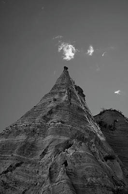 Photograph - Sandstone Peak And Clouds Bw by Dave Gordon