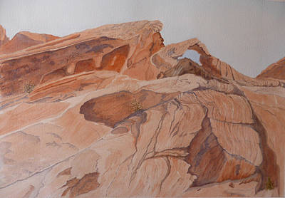 Painting - Sandstone Rainbow by Joel Deutsch