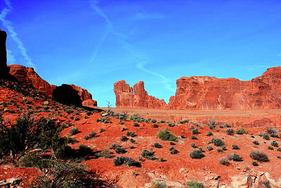 Art Print featuring the photograph Sandstone Road by Edward R Wisell