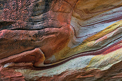 Photograph - Sandstone Strata - Abstract by Nikolyn McDonald