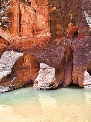 Photograph - Sandstone Toes In The Virgin River by Robert Meyers-Lussier