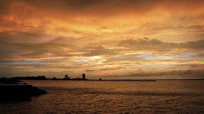 Photograph - Sandusky Coal Dock Sunset 2 by Shawna Rowe
