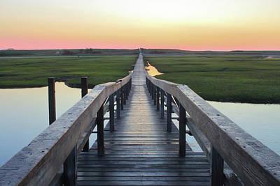 Photograph - Sandwich Boardwalk Cape Cod At Dawn by John Burk